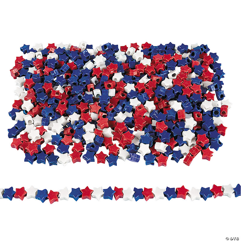 Star-Shaped Patriotic Pony Beads Audio Thumbnail