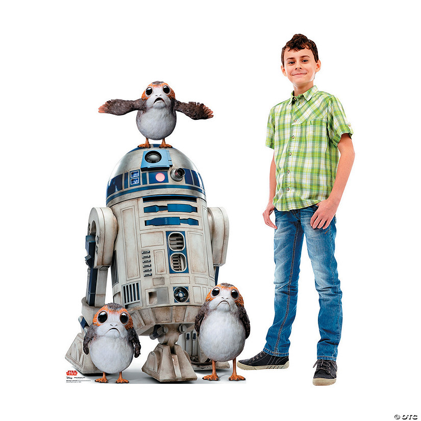Star Wars™ Episode VIII: The Last Jedi Porgs with R2-D2 Stand-Up