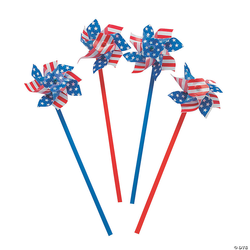 Stars & Stripes Pinwheels - 36 Pc. Audio Thumbnail