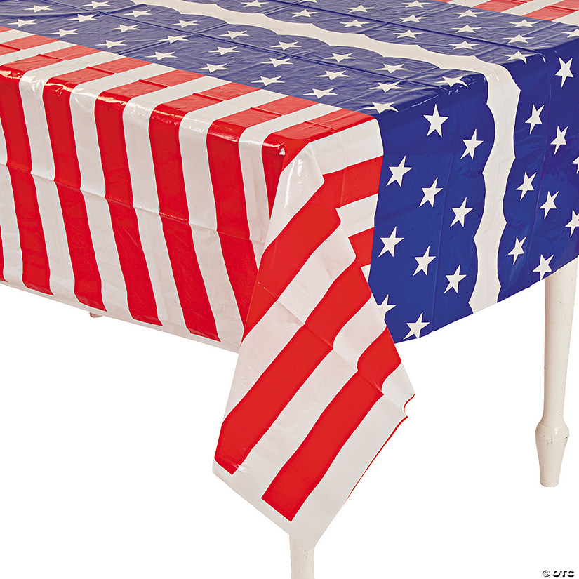 Stars & Stripes Plastic Tablecloth