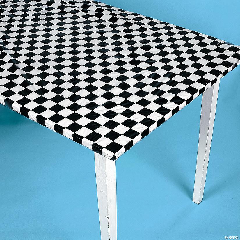 Stay Putu0026#8482; Black U0026 White Checkered Tablecloth