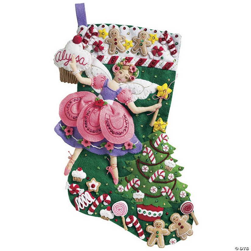 Stocking Applique Kit-Sugar Plum Fairy