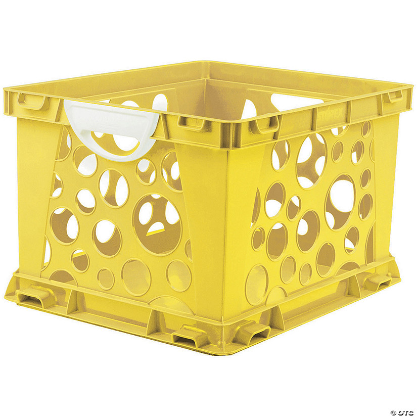 Storex Premium File Crate with Handles, Classroom Yellow Image Thumbnail