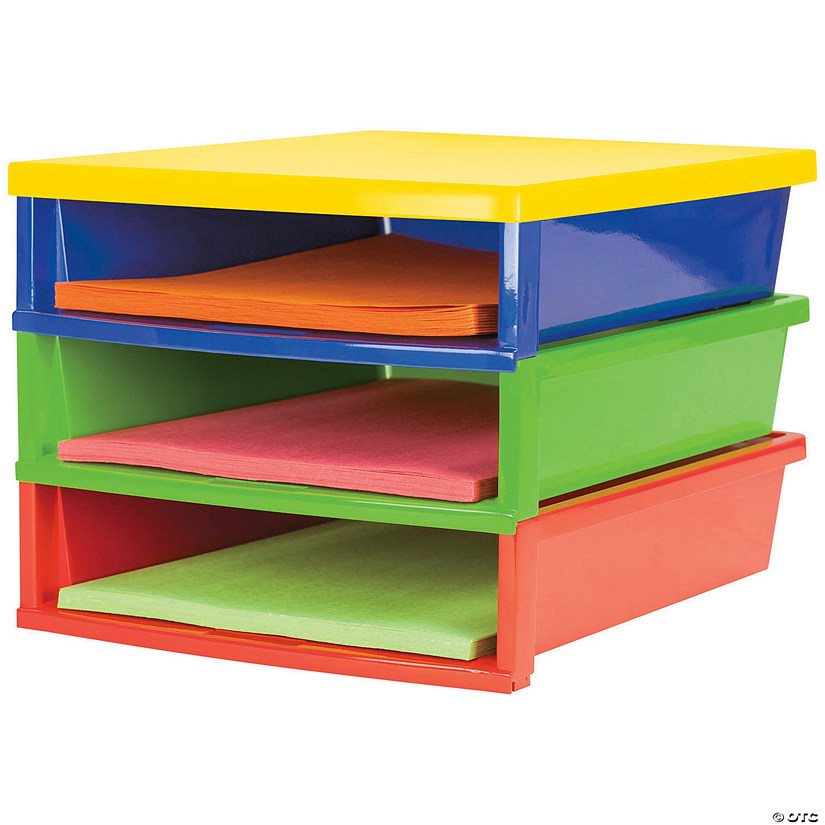 Storex Quick Stack Construction Paper Organizer