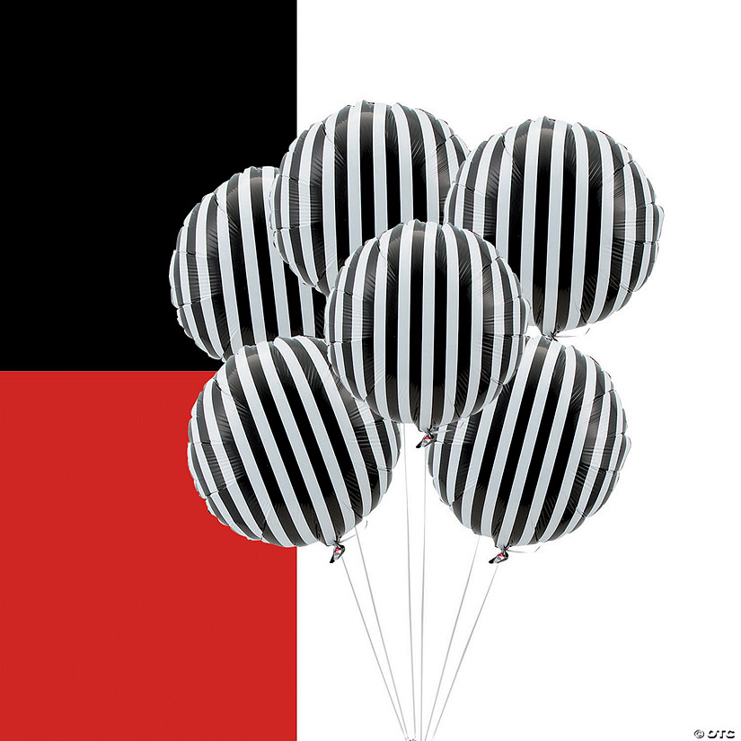 Striped Mylar Balloons