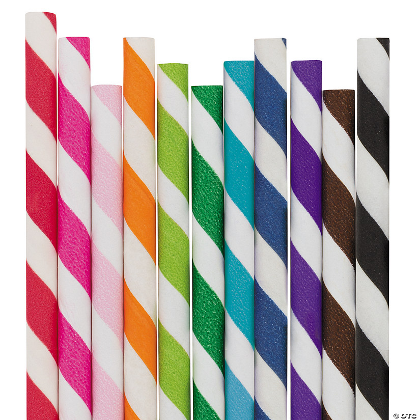 Striped Paper Straws Image Thumbnail