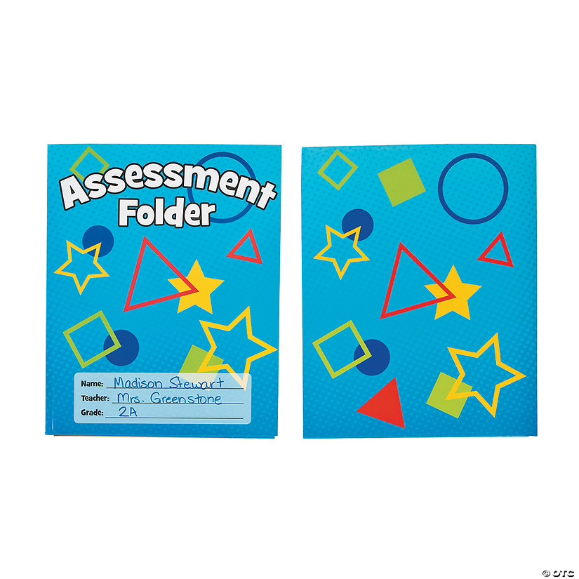 Student Assessment Pocket Folders