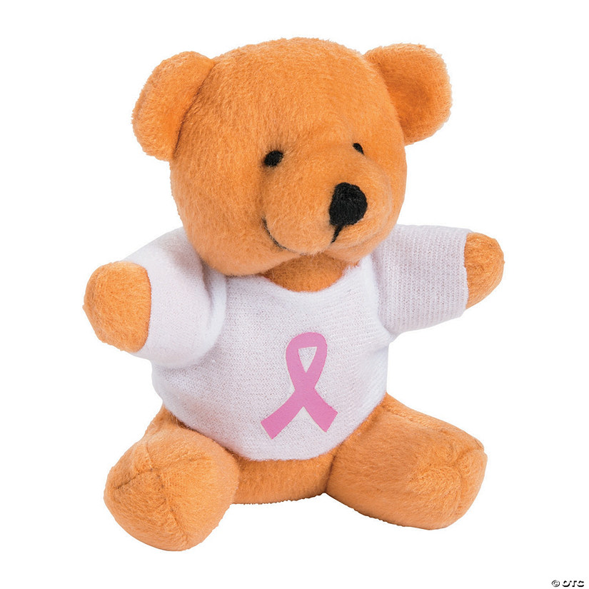 Stuffed Bears with Pink Ribbon T-Shirts Image Thumbnail