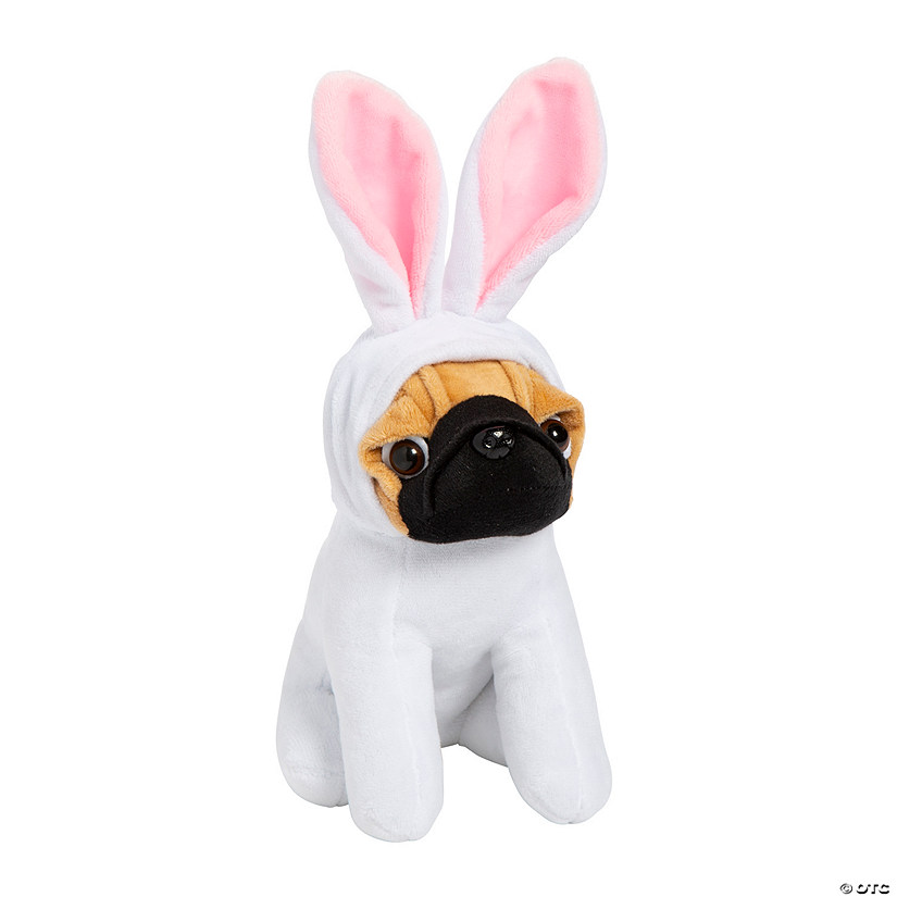 Stuffed Easter Pugs in Bunny Costume Image Thumbnail
