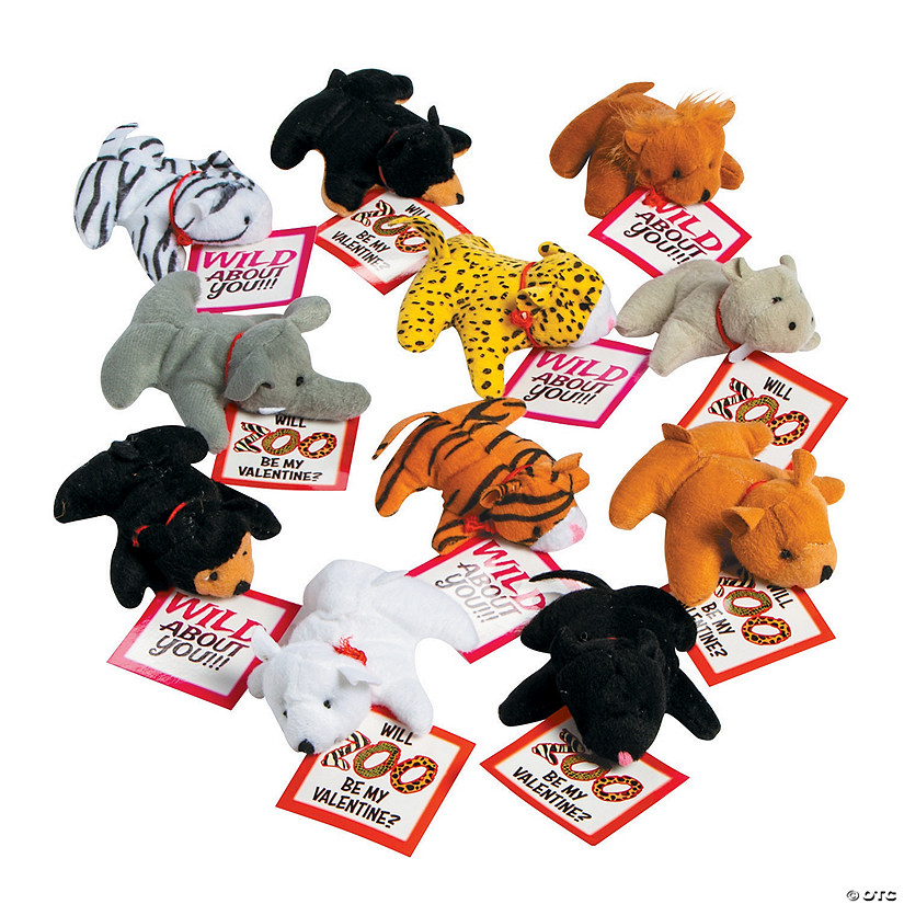 Stuffed Zoo Animals with Valentine's Day Cards Audio Thumbnail