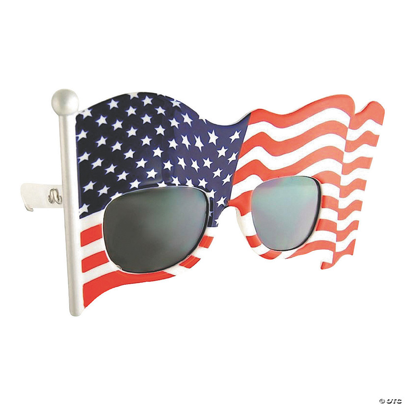 Sunstache American Flag Sunglasses