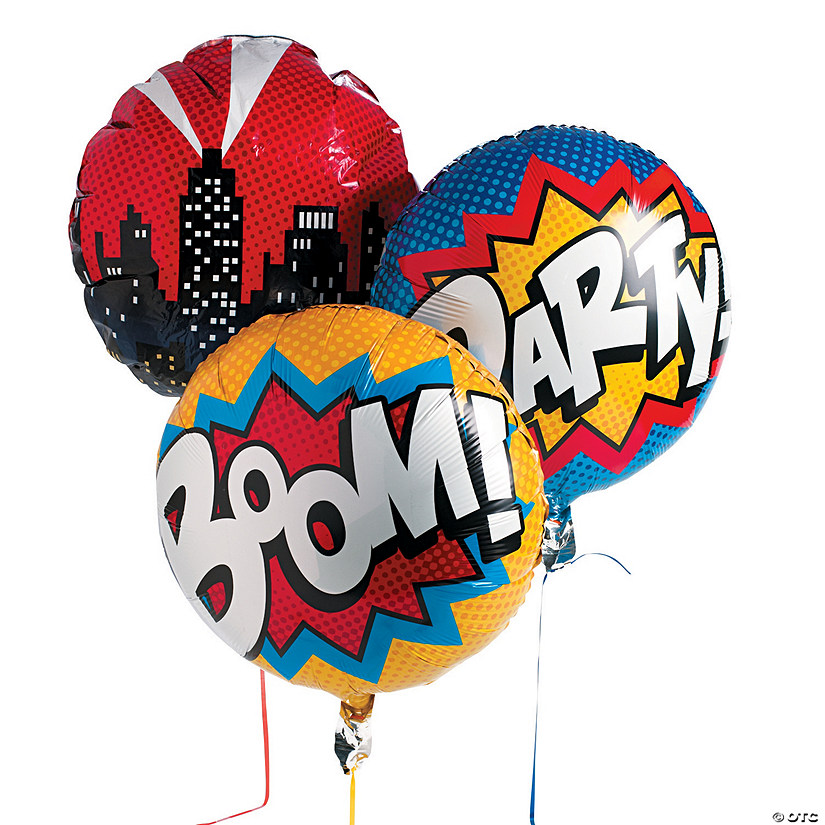 "Superhero 18"" Mylar Balloon Set Audio Thumbnail"