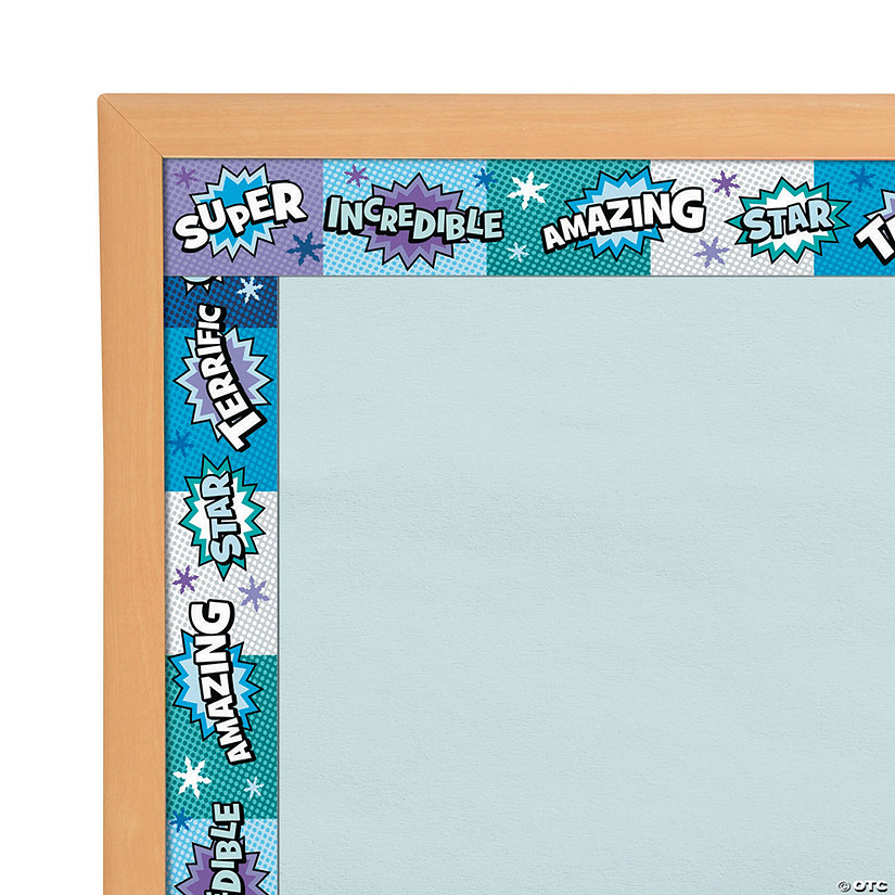 Superhero Bulletin Board Borders