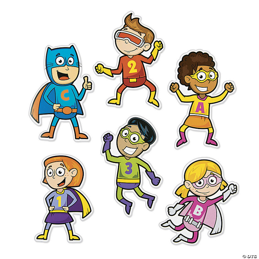 Superhero Bulletin Board Cutouts Audio Thumbnail
