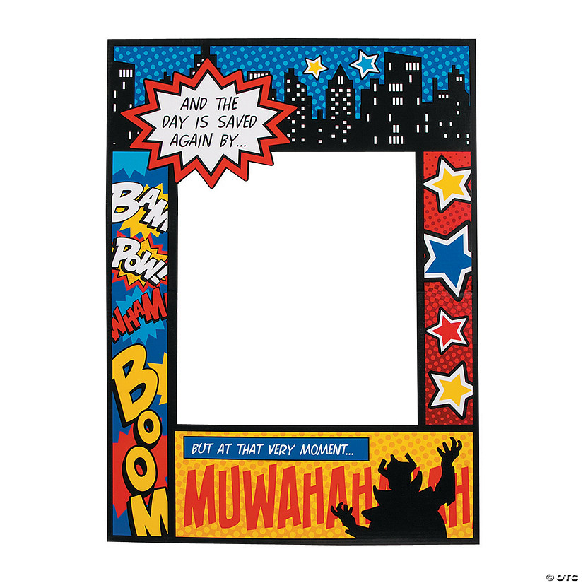 Superhero Comic Book Photo Prop