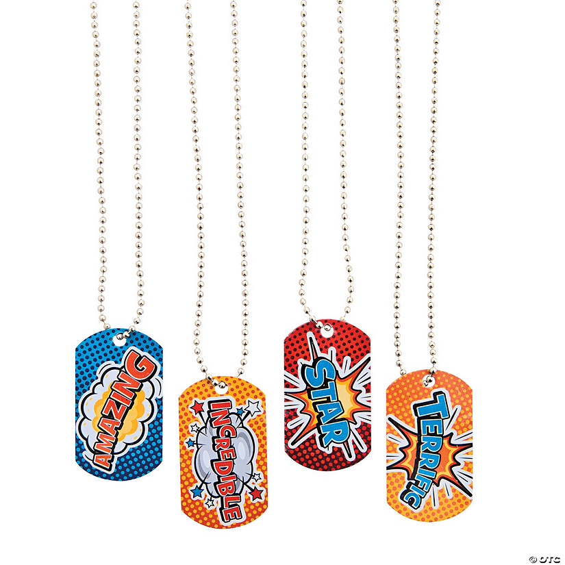 Superhero Dog Tag Necklaces Audio Thumbnail