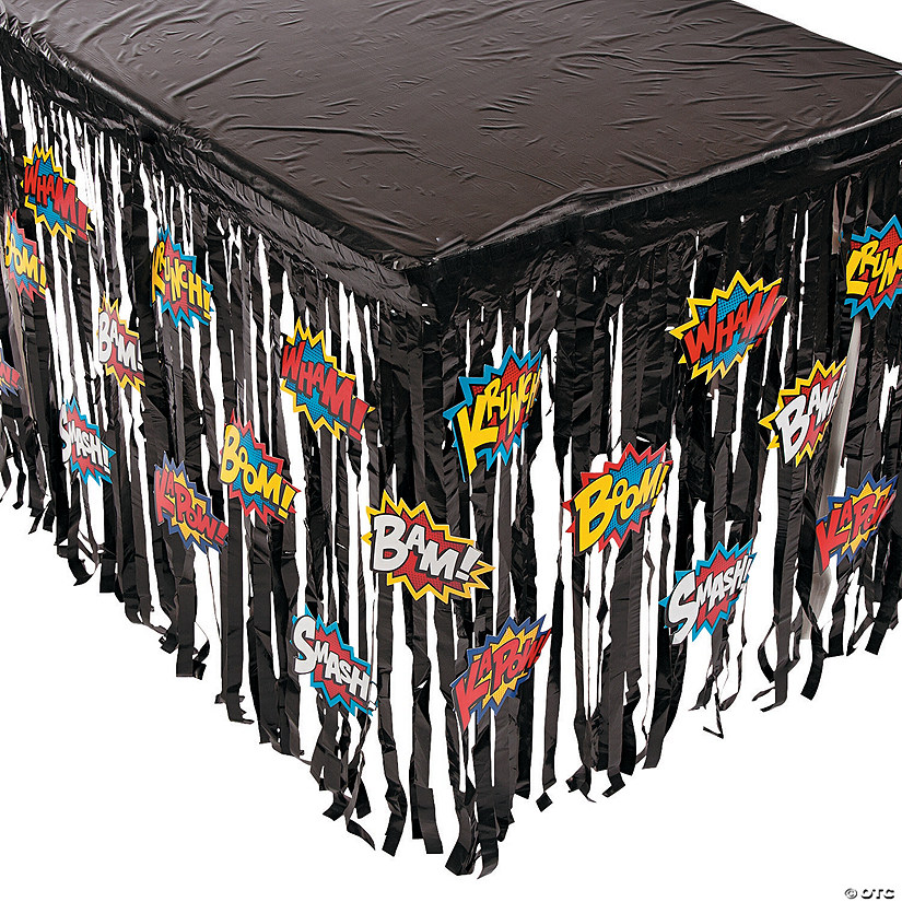 Superhero Fringe Plastic Table Skirt with Cutouts Audio Thumbnail