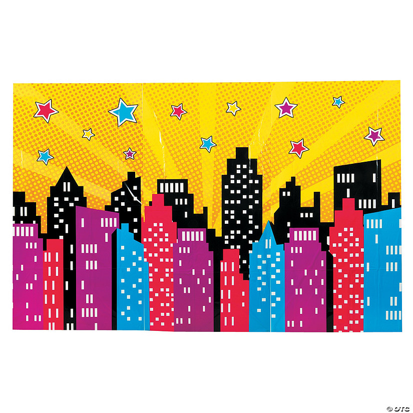 Superhero Girl Backdrop