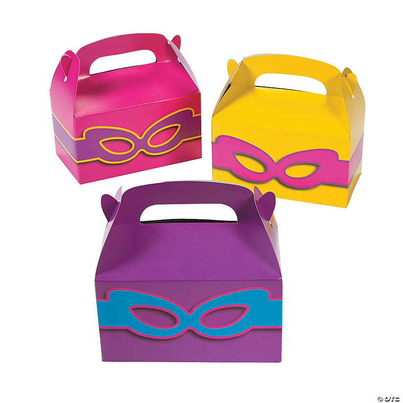 Superhero Girl Treat Boxes