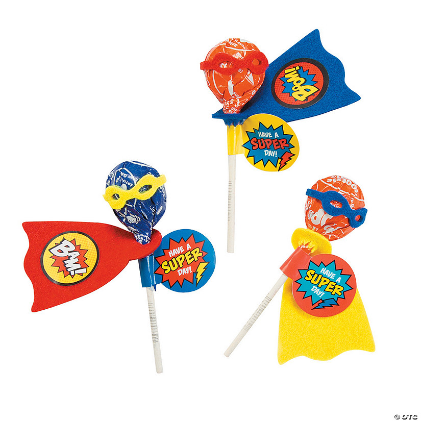 Superhero Lollipop Craft Kit