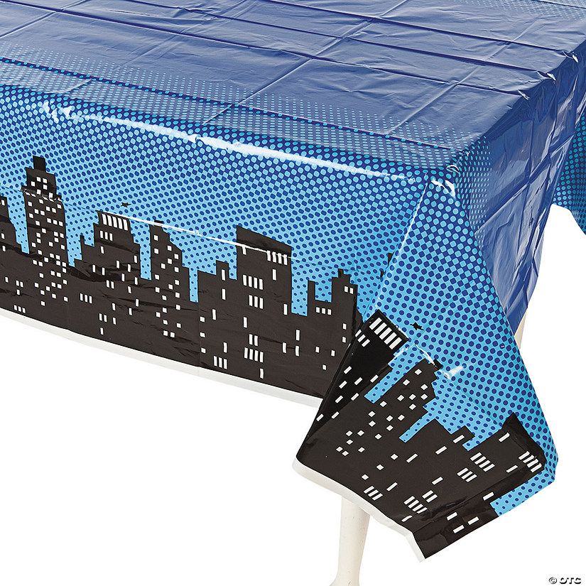 Superhero Plastic Tablecloth