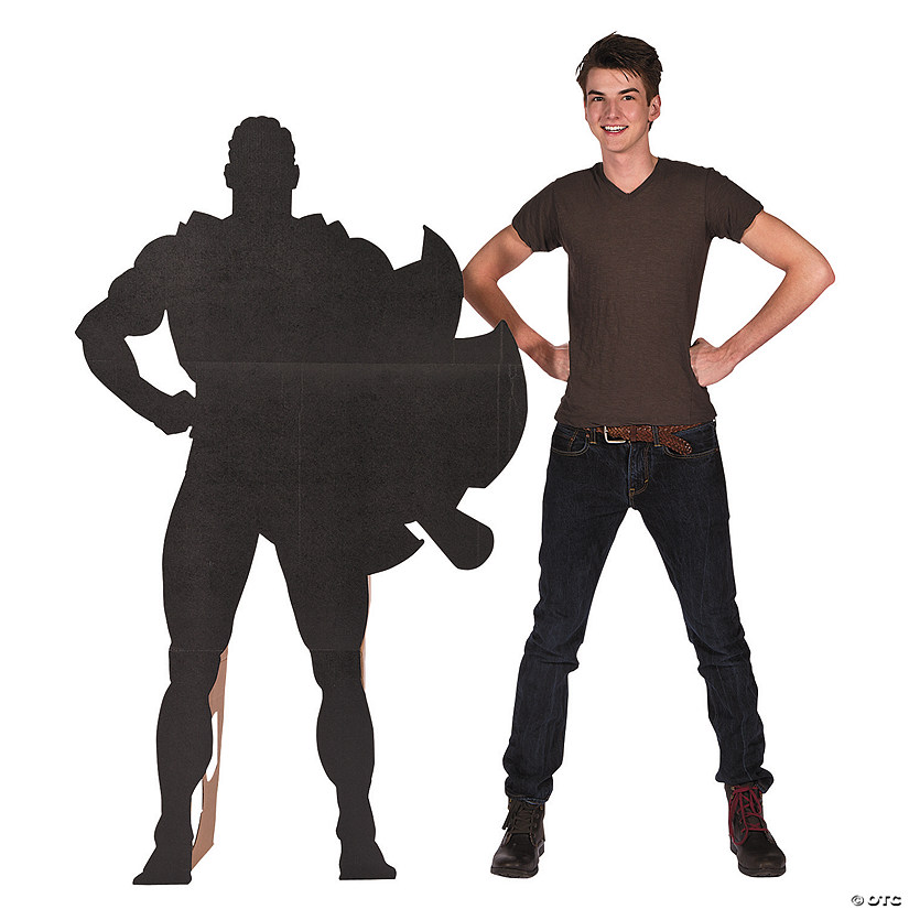 Superhero Silhouette Cardboard Stand-Up Audio Thumbnail