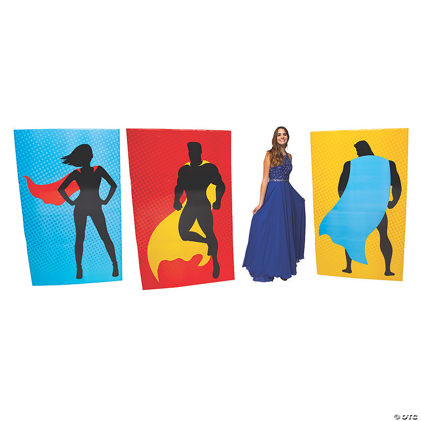 Superhero Silhouette Wall Panel Cardboard Stand-Ups Audio Thumbnail