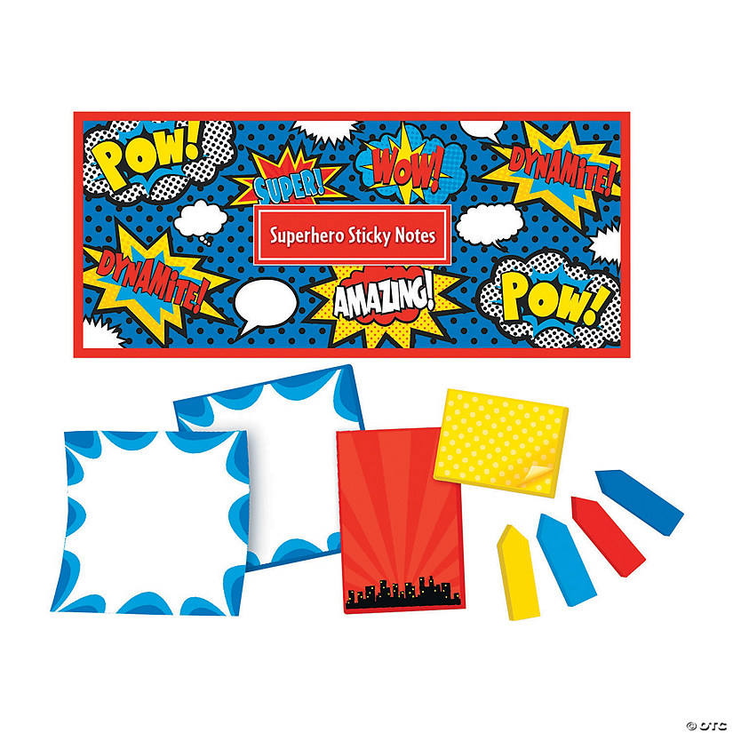 Superhero Sticky Notepad Set
