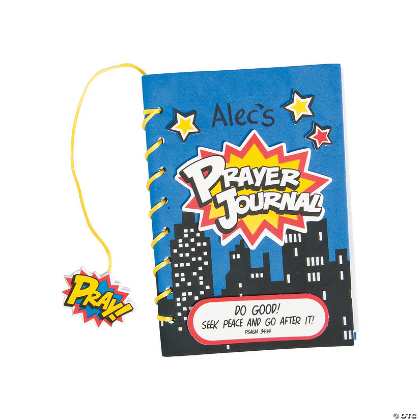 Superhero VBS Prayer Journal Craft Kit