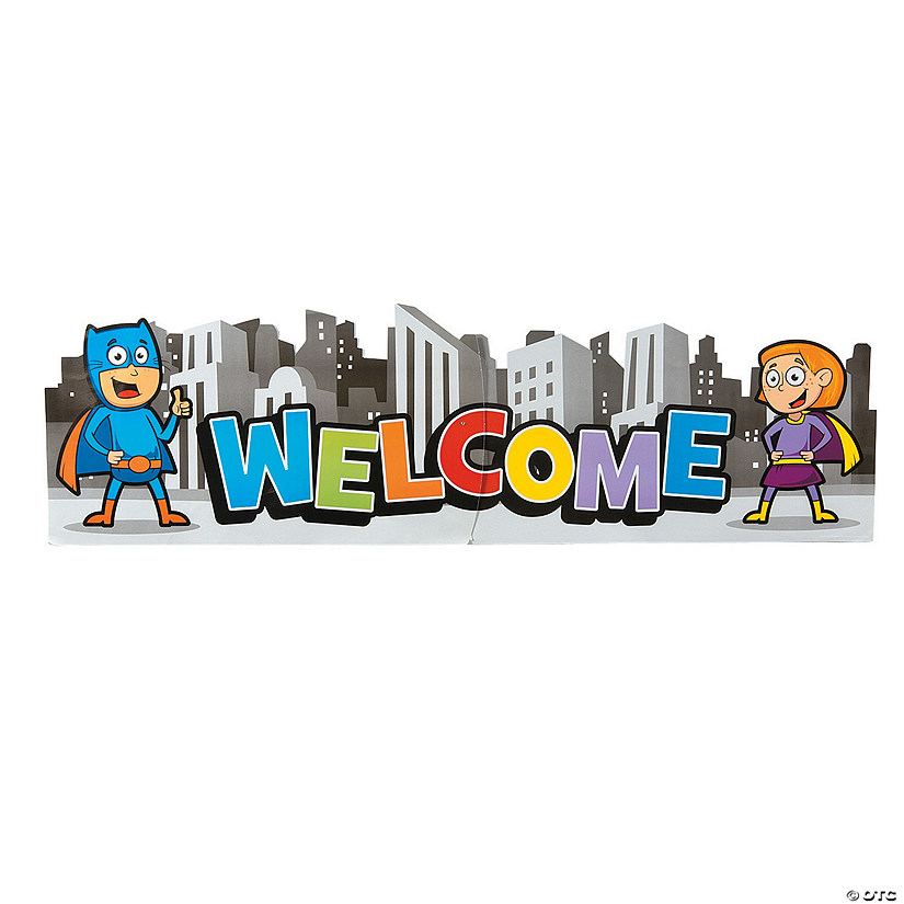 Superhero Welcome Banner Jointed Wall Decoration Audio Thumbnail