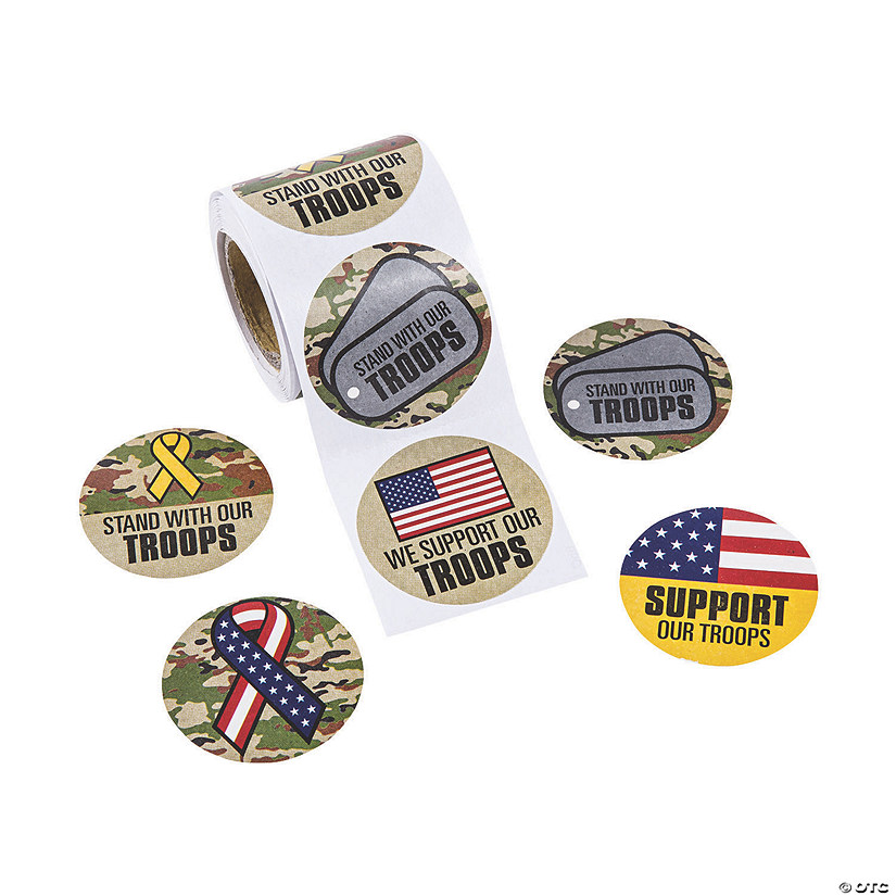 Support Our Troops Sticker Rolls Audio Thumbnail