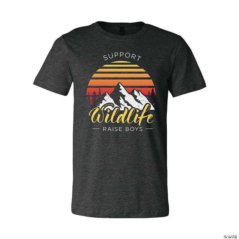 Support Wildlife - Raise Boys Adult's T-Shirt Image Thumbnail