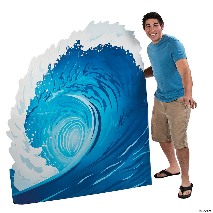 Surf Wave Cardboard Stand-Up