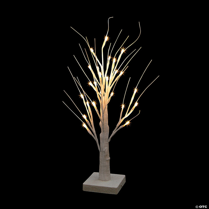 Tabletop White Light-Up Tree Audio Thumbnail