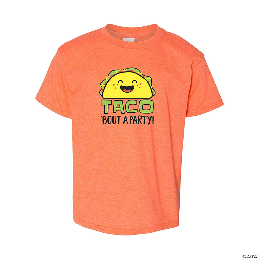 Taco 'Bout a Party Youth T-Shirt Image Thumbnail