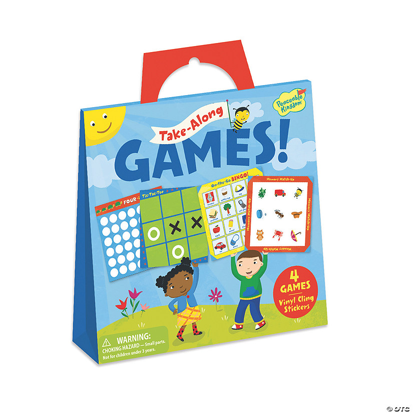 Take-Along Games Reusable Sticker Tote