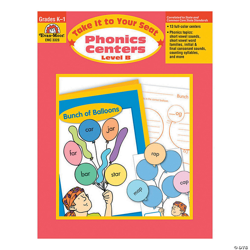 Take It to Your Seat: Phonics Centers - Teacher Resource Book, Grades K-1 (Level B) Audio Thumbnail