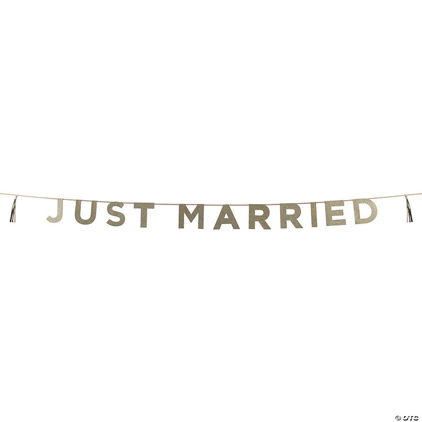 Talking Tables Just Married Glitter Pennant Banner Audio Thumbnail