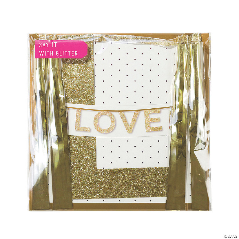 Talking Tables Love Glitter Pennant Banner Audio Thumbnail