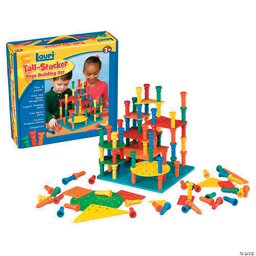 Tall-Stacker Pegs Building Set