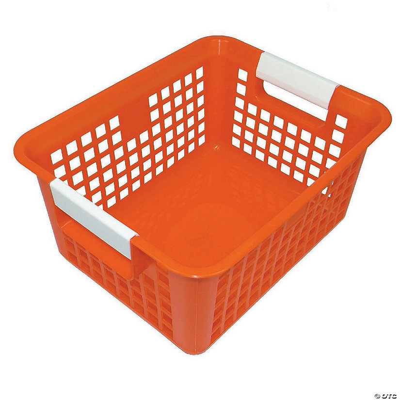 Tattle® Book Basket, Orange, Set of 3
