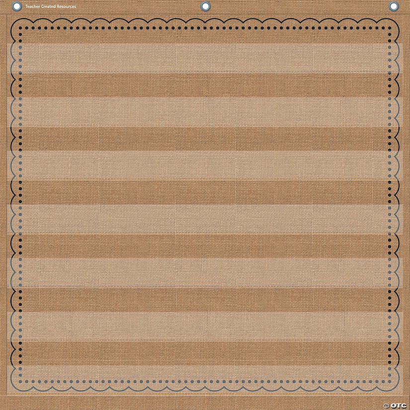 "Teacher Created Resources Pocket Chart, Burlap, 28"" x 28"", 7 Pockets Audio Thumbnail"