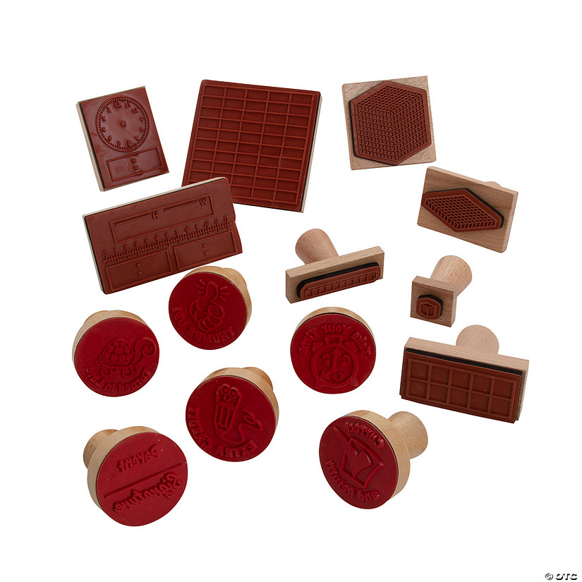 Teacher Wood Stamps Assortment Audio Thumbnail