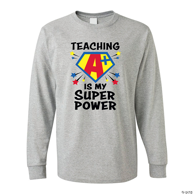 Teaching Is My Superpower Adult's T-Shirt Image Thumbnail