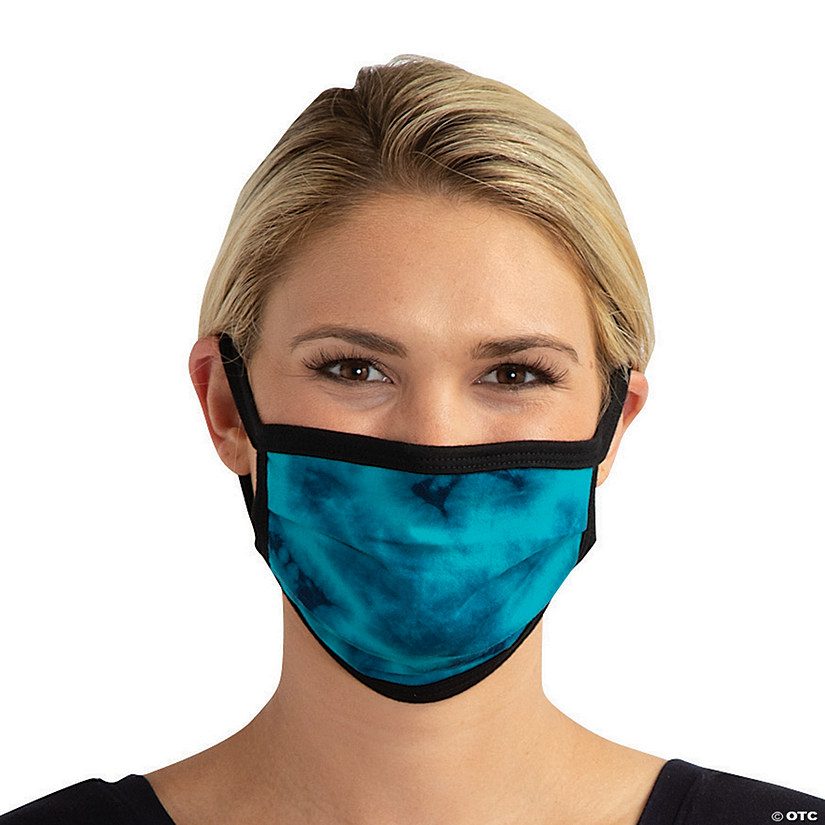 Teal & Navy Washable Face Mask Image Thumbnail