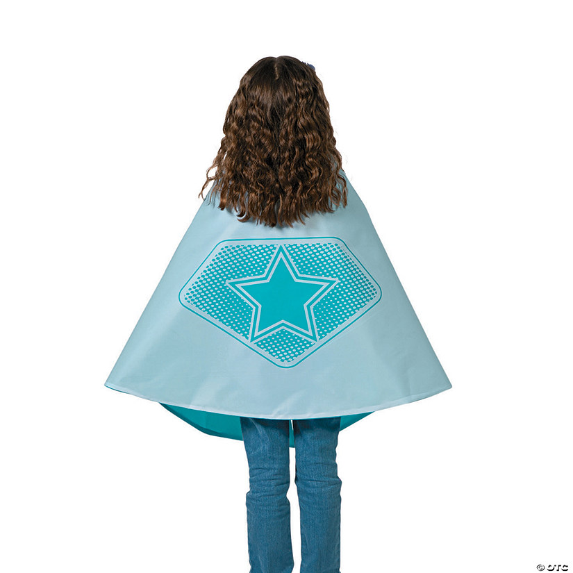 Teal & White Superhero Reversible Cape Audio Thumbnail