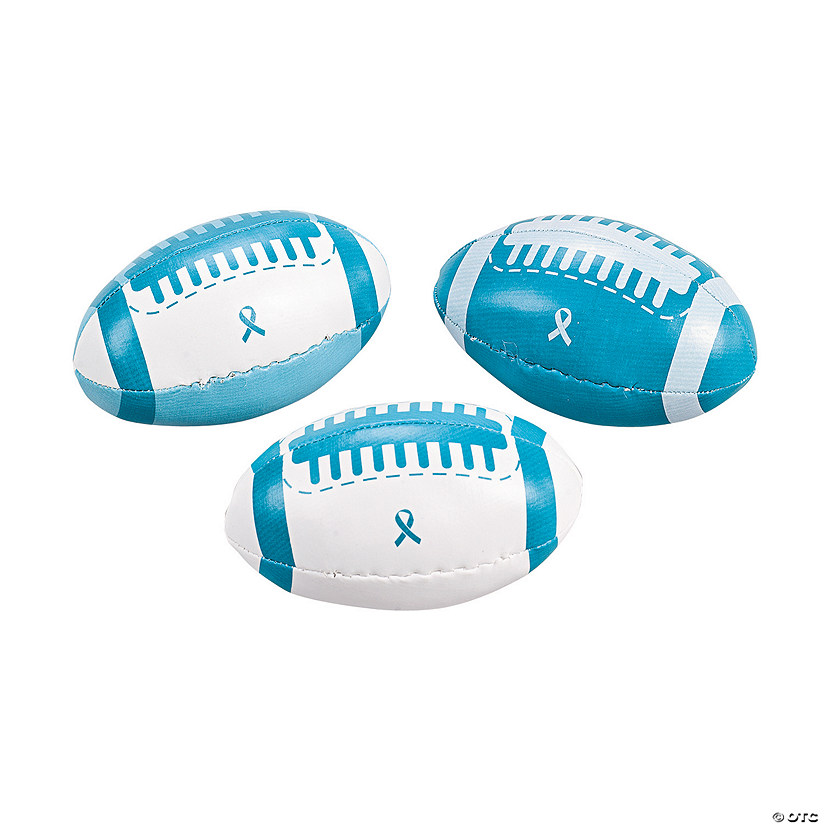 Teal Awareness Ribbon Football Assortment Image Thumbnail