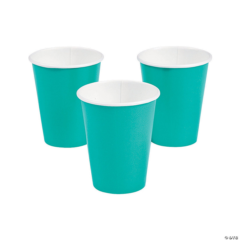 Teal Lagoon Paper Cups - 24 Ct. Audio Thumbnail