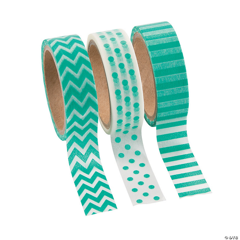 Teal Washi Tape Set