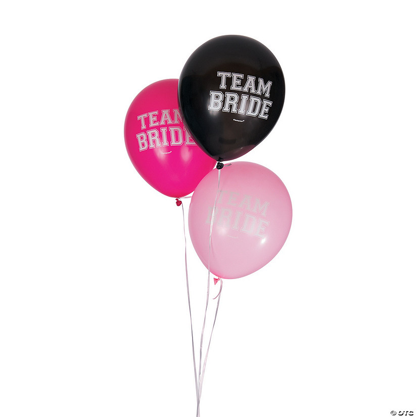 "Team Bride 12"" Latex Balloons"